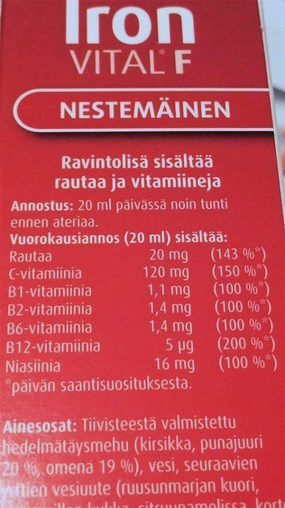 Rautavalmiste_ironF_hemoglobiini
